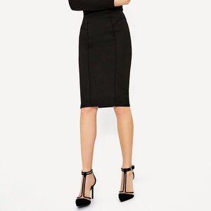 Zara Knee Length Skirt in Black